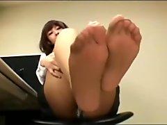 japanese office nylon feet