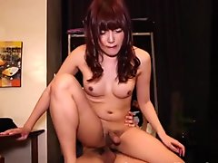 Gorgeous cockriding ladyboy gets pounded