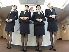 Awesome Japanese flight cabin stewardess awesome sex
