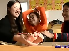 Chinese lady tickled