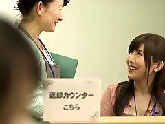 Incredible Japanese slut in Fabulous Public, Lesbian JAV clip