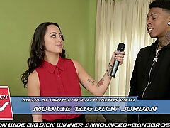 BANGBROS - Asian Reporter Mi Ha Takes On Mookie'_s Big Black Cock